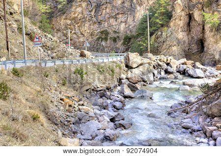 Caucasus. Canyon And River Adir-su
