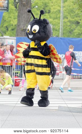 The Mascot, A Wasp, Before The Start Of The Marathon Race