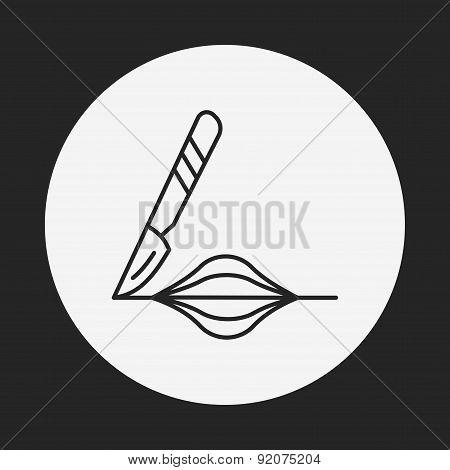 Scalpel Line Icon