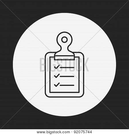 Medical File Line Icon