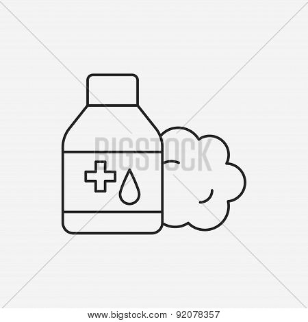 Medicine Bottle Line Icon
