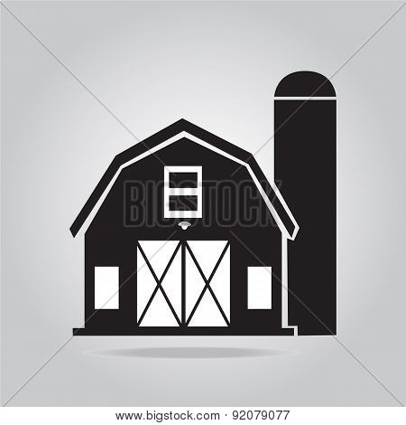 Building, Barn Icon Illustration