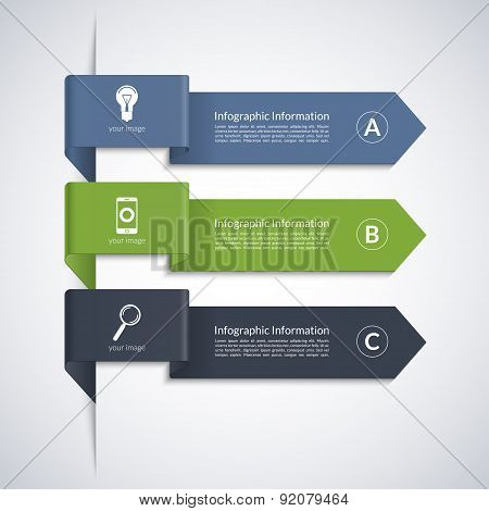 Modern arrow banner for business infographics