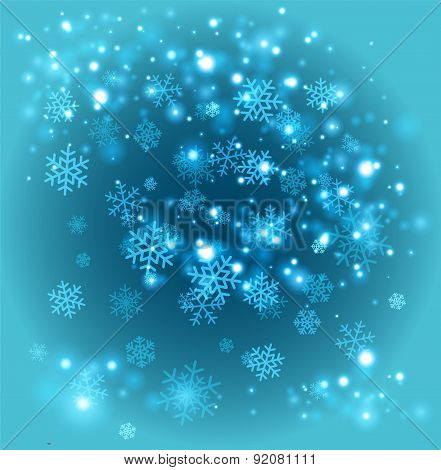 Snowflakes background template