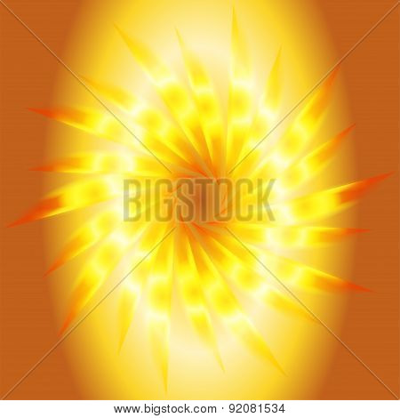 Swirl abstract golden background template