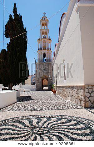 Hoklakia mosaic courtyard, Halki