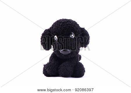 Black Dog Knitting Doll