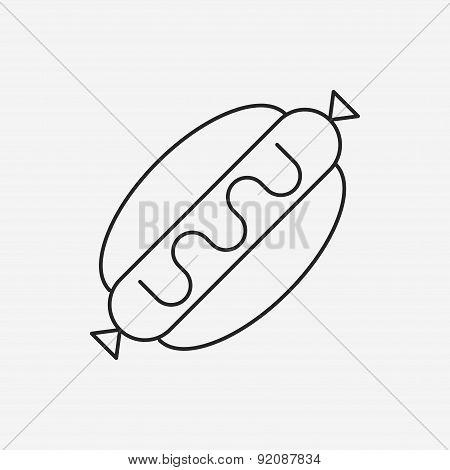 Hot Dog Sausage Line Icon