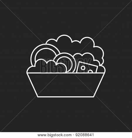 Salad Line Icon