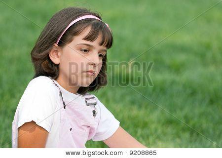 Portrait Of A Sad Pretty Girl