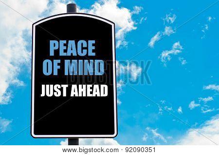 Peace Of Mind Just Ahead