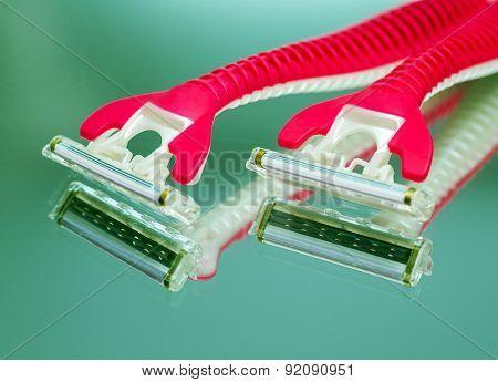 Device For Shaving. Closeup