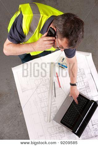 Builder Phones About Construction Blueprint