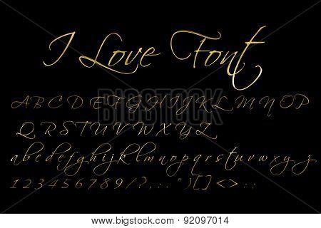 Gold elegant font