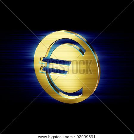Image Currency Symbol Euro Currency In The Form Of Coins
