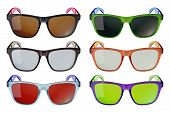 image of bifocals  - Colored glasses isolated on white background set - JPG