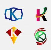 foto of letter k  - Vector illustration of abstract icons based on the letter K - JPG