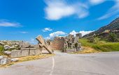 image of messina  - ruins of Arcadian gete in Ancient Messina - JPG