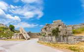 picture of messina  - ruins of Arcadian gete in Ancient Messina - JPG