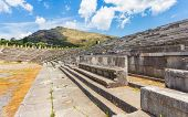 foto of messina  - vip seats on antique stadium in Ancient Messina - JPG