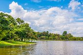 picture of raft  - image of raft and blue sky for background usage at hueytuengtaoChiang Mai Thailand - JPG
