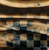stock photo of chessboard  - Grungy dotted chessboard background with stains and scratches - JPG
