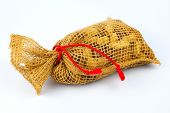 pic of testis  - Peanut in a bag on a white background - JPG