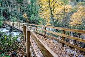 foto of smoky mountain  - Bridge to Chimney Tops Trail in the Great Smoky Mountains National Park