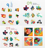 stock photo of universal sign  - Modern geometric design temlates for universal diagrams - JPG