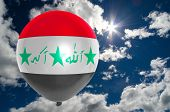 Постер, плакат: Balloon With Flag Of Iraq On Sky