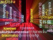stock photo of trauma  - Background concept wordcloud multilanguage international many language illustration of trauma glowing light - JPG