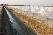 pic of salt mine  - Naklua Mass of salt in salt seaside farm - JPG