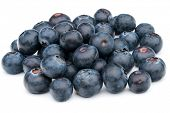 stock photo of blackberries  - blueberry or bilberry or blackberry or blue whortleberry or huckleberry isolated on white background cutout - JPG