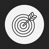 picture of archery  - Archery Line Icon - JPG