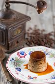 picture of custard  - Egg custard with coffee made with fresh produce  - JPG