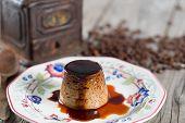 foto of custard  - Egg custard with coffee made with fresh produce - JPG
