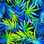 picture of palm  - seamless tropical palms pattern - JPG