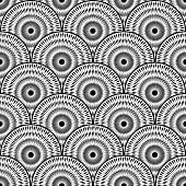 foto of strip  - Design seamless monochrome ellipse background - JPG
