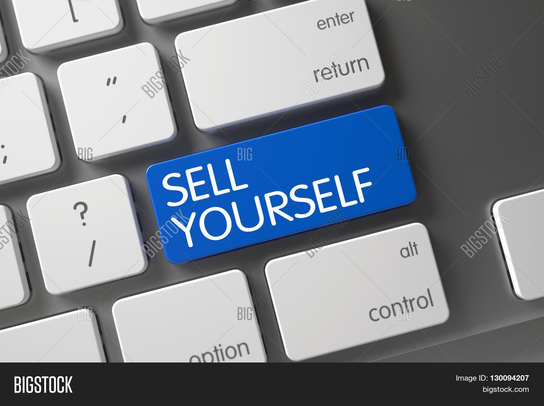 sell yourself closeup of slim aluminum keyboard on laptop sell sell yourself closeup of slim aluminum keyboard on laptop sell yourself button on white keyboard