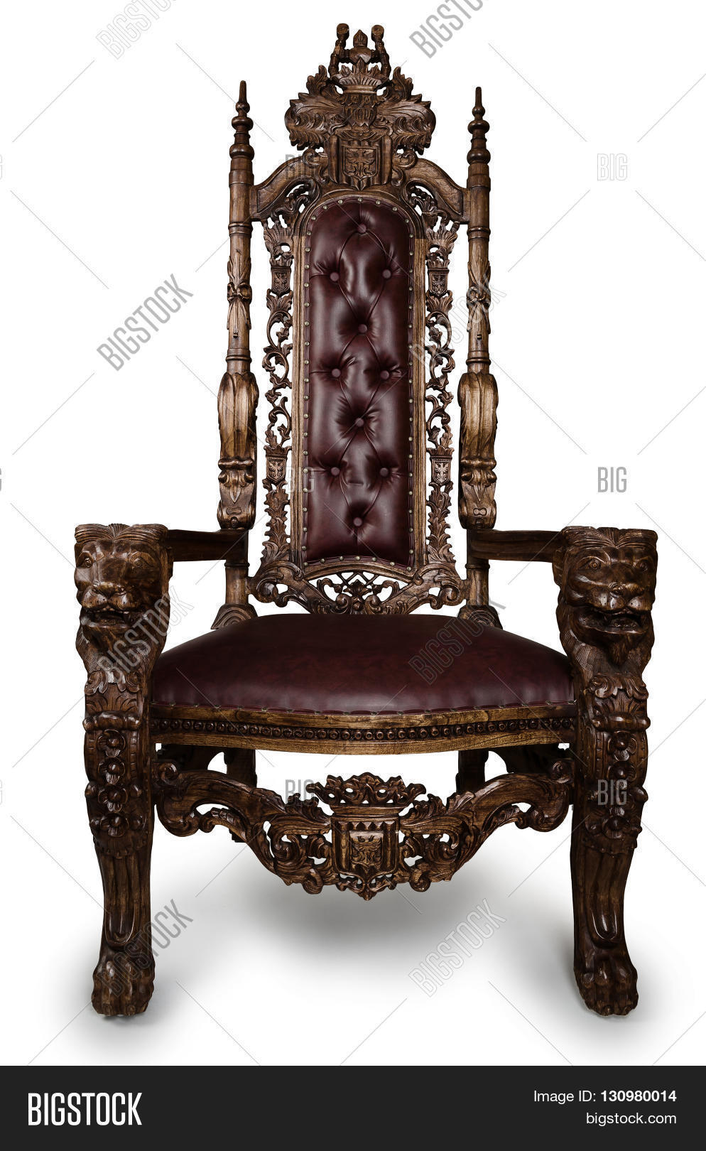 Vintage throne chair isolated on image photo bigstock for Throne chair plans