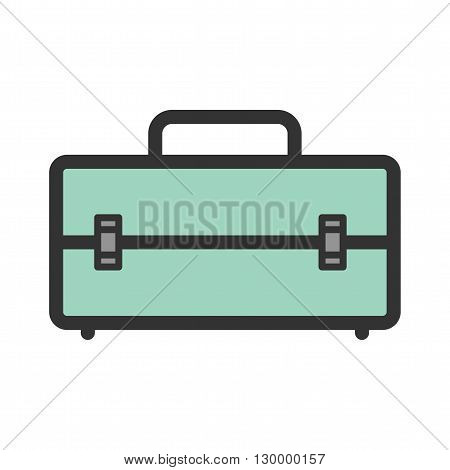 Tool, box, container icon vector image. Can also be used for tools. Suitable for use on web apps, mobile apps and print media.