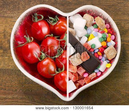 Healthy Or Unhealthy Food.