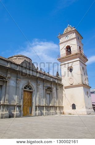 GRANADA NICARAGUA - MARCH 20 : La Merced Church in Granada Nicaragua on March 20 2016. The original church constructed in 1534 and restored in 1862