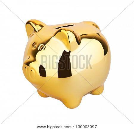 Piggy Money Box, isolated on white background