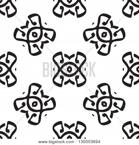 Vector seamless pattern. Modern texture. Repeating endless abstract hand drawn background.