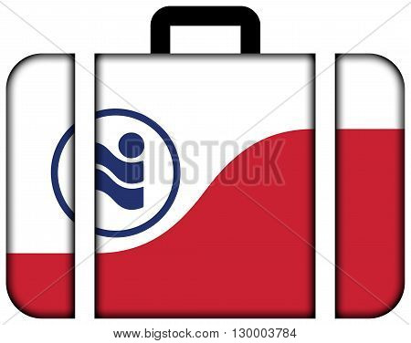Flag Of Irving, Texas. Suitcase Icon, Travel And Transportation Concept