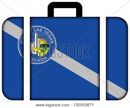 Flag Of Las Vegas, Nevada. Suitcase Icon, Travel And Transportation Concept