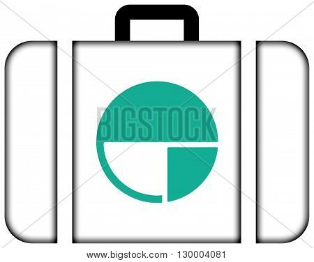 Flag Of Nagano, Japan. Suitcase Icon, Travel And Transportation Concept