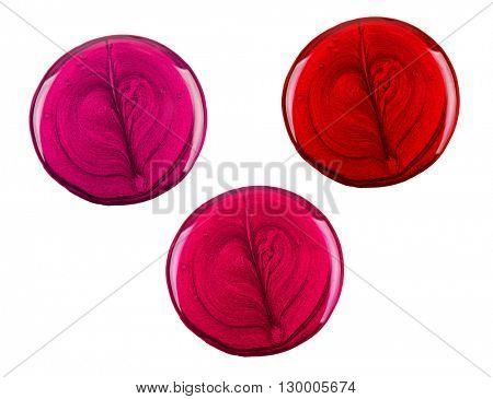 Three drops of nail polish