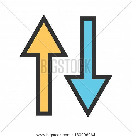 Way, two, road icon vector image. Can also be used for maps navigation. Suitable for mobile apps, web apps and print media.